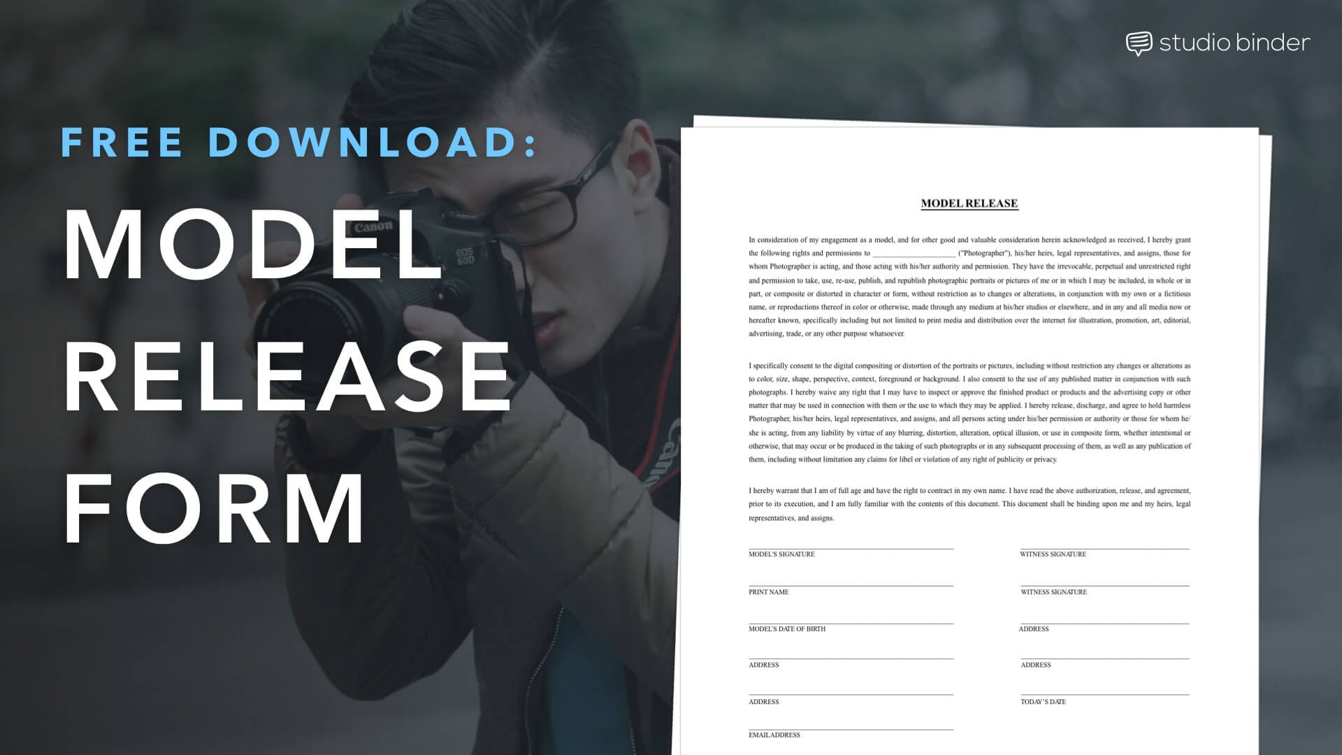 Download a FREE Model Release Form Template | StudioBinder