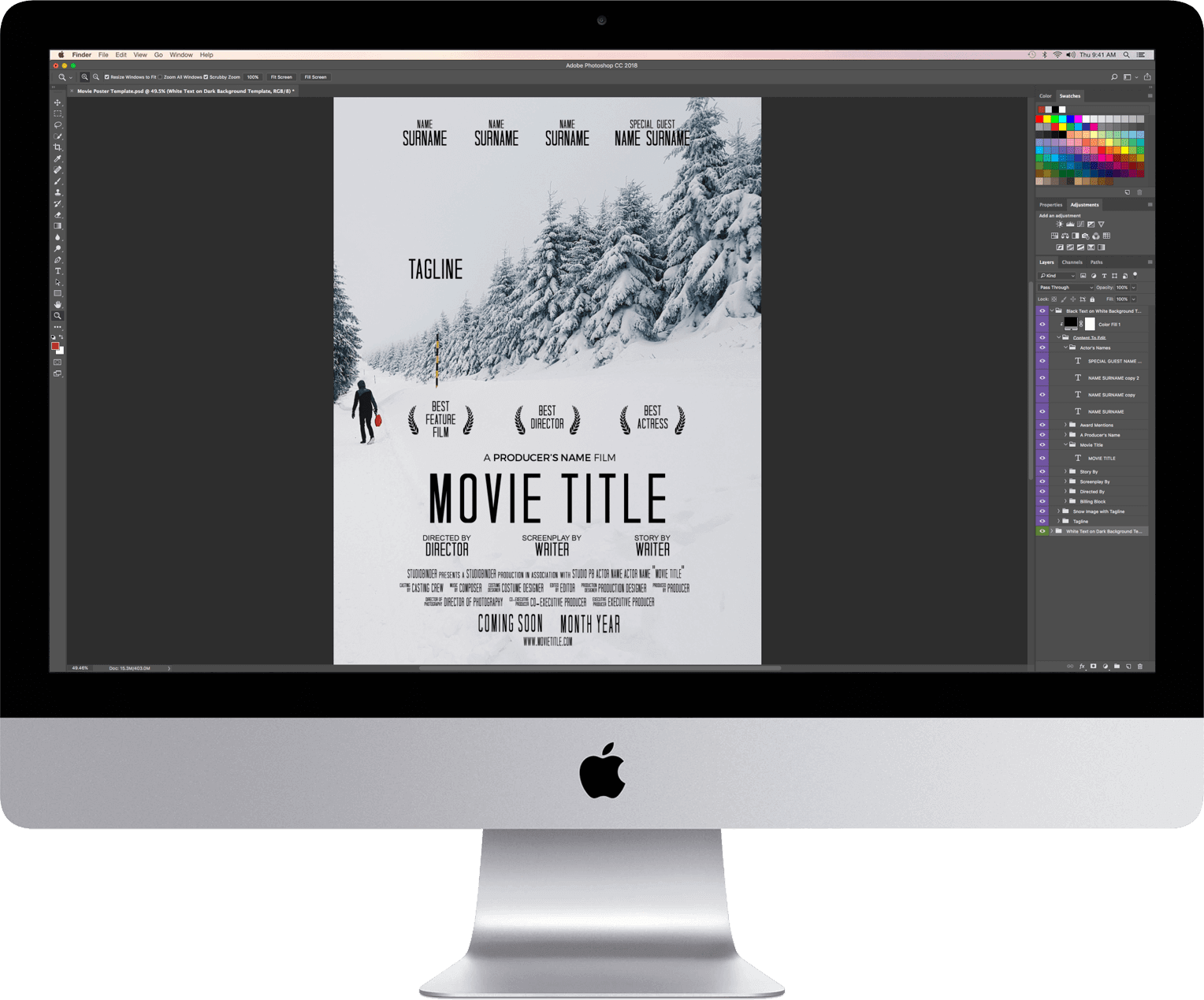 Photoshop movie poster templates