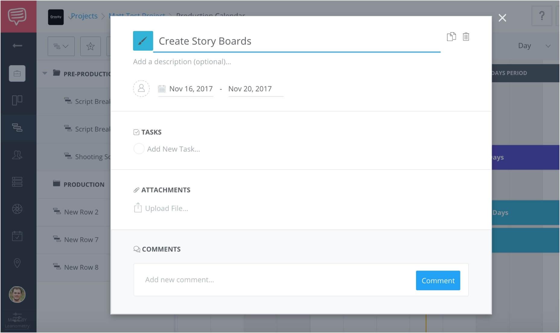 Create a free online gantt chart studiobinders gantt chart software once geenschuldenfo Choice Image