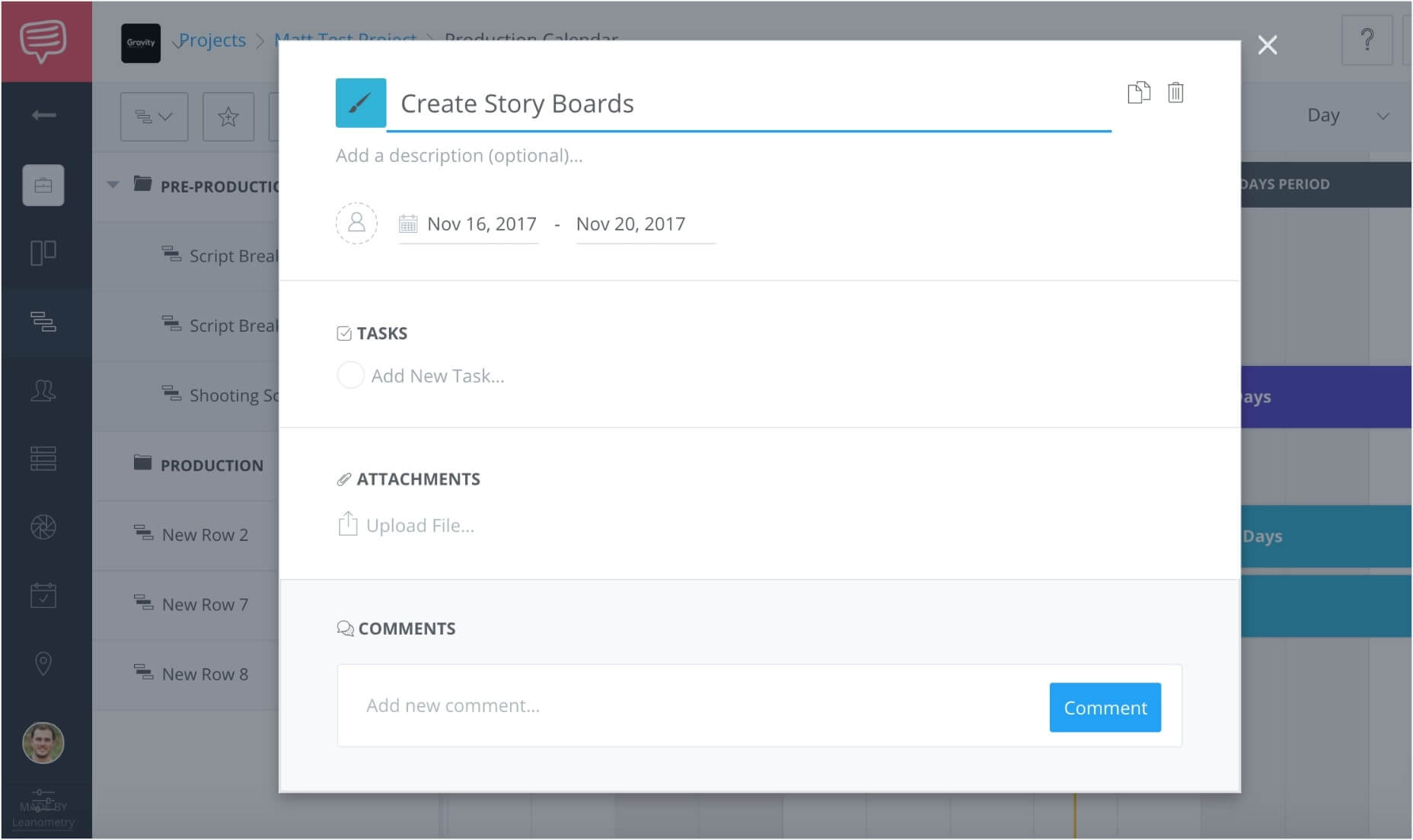 Create a free online gantt chart studiobinders gantt chart software once nvjuhfo Images