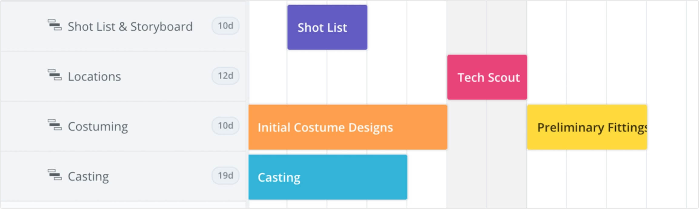 Create a free online gantt chart studiobinders gantt chart software online gantt chart in studiobinder nvjuhfo Choice Image