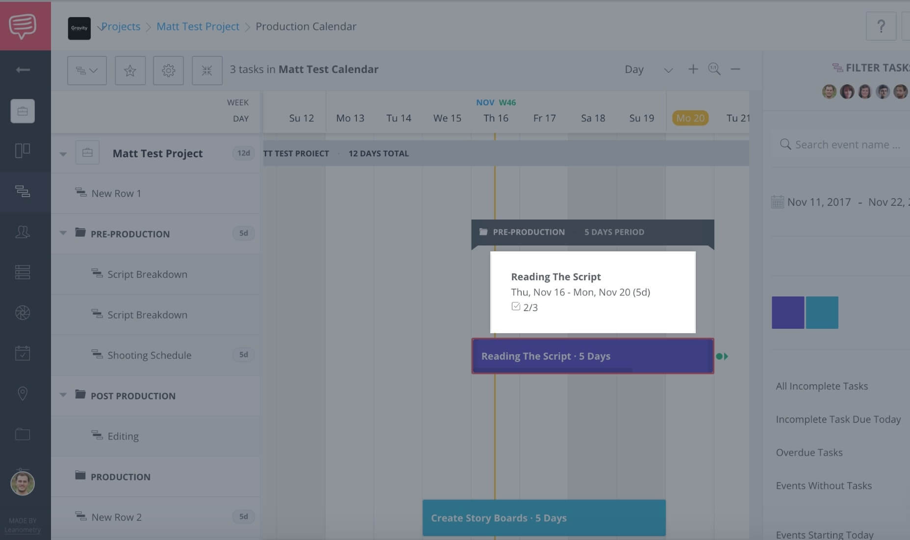 Create a Free Online Gantt Chart | StudioBinder\'s Gantt Chart Software