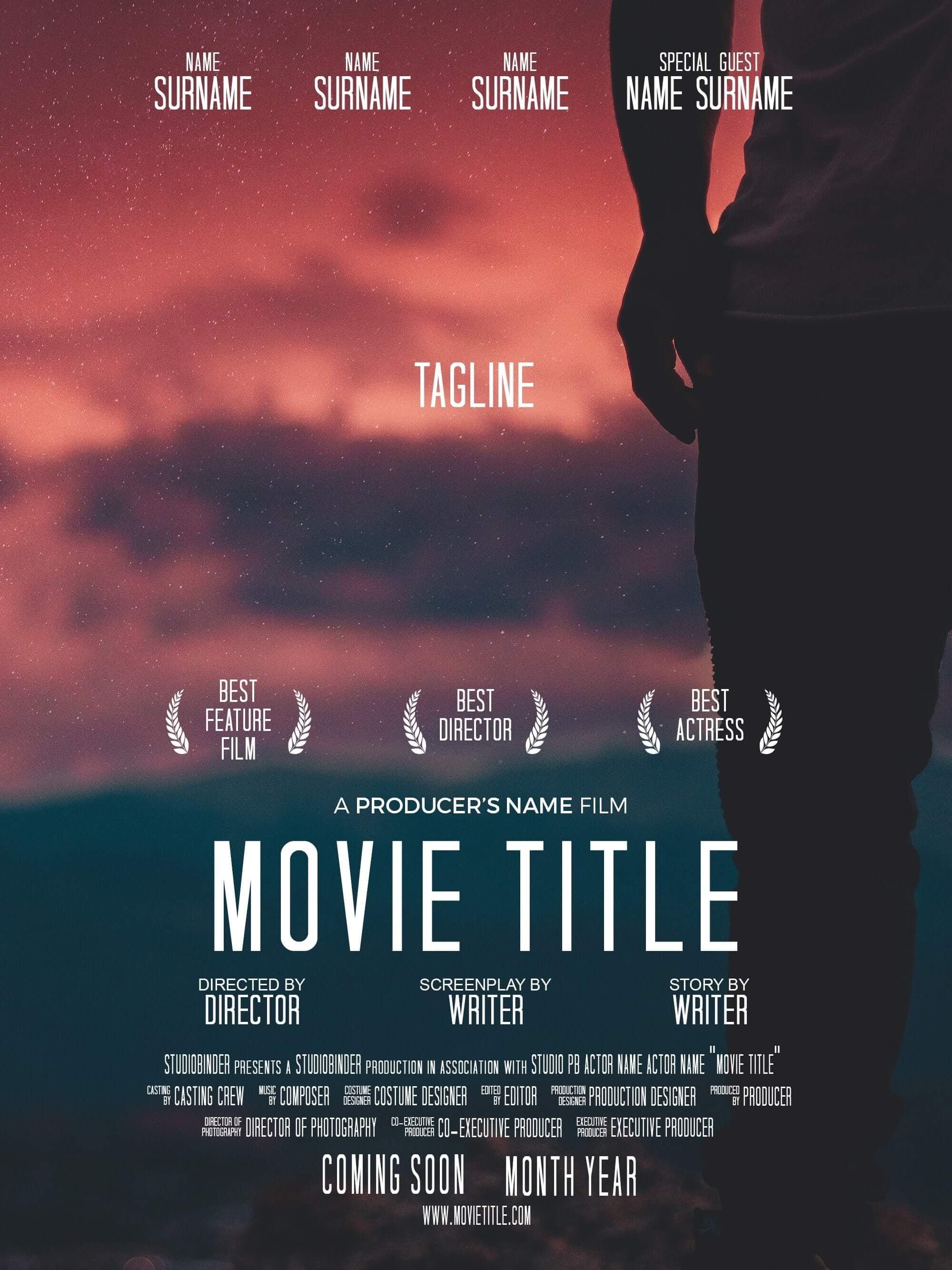 Movie Poster Template - Dark - with Image