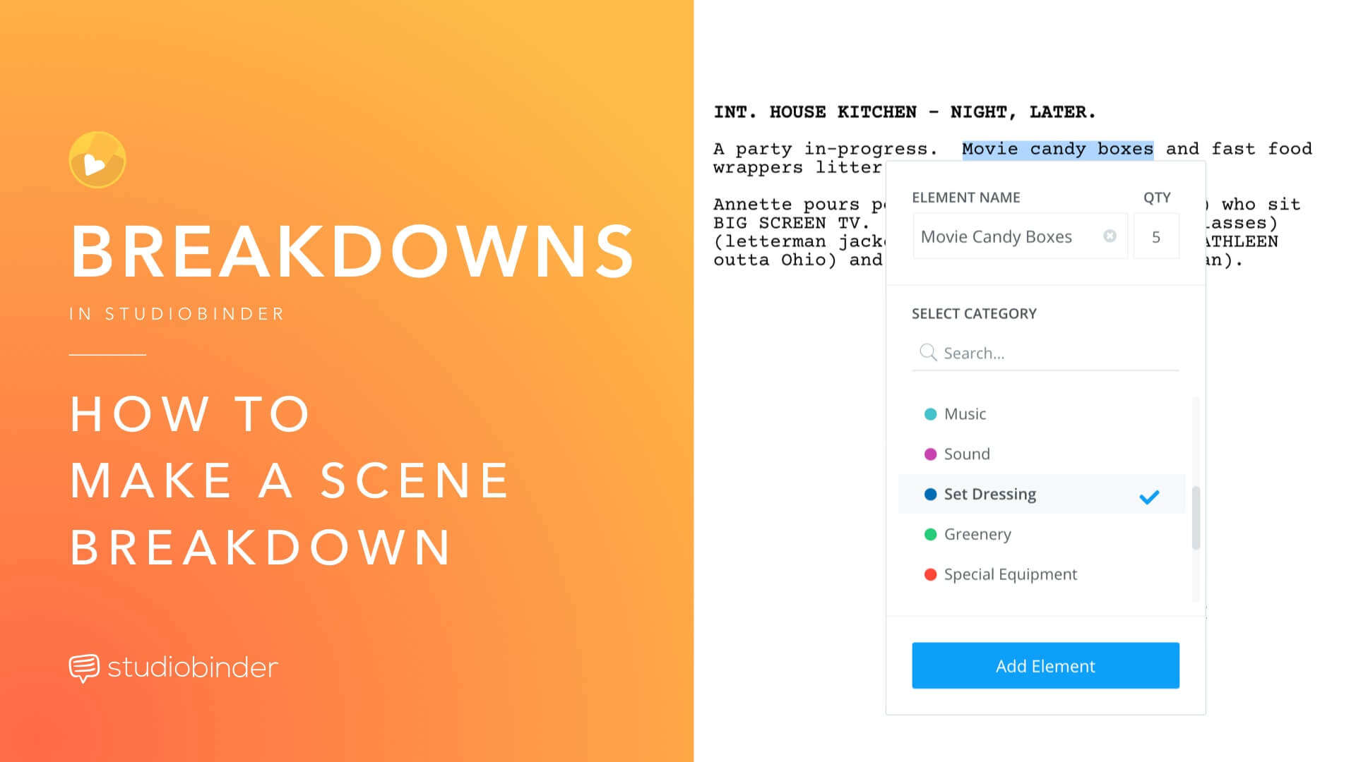 An easy guide for creating a scene breakdown for film production scheduling.  Use script analysis, color-coding, and a reliable script breakdown software to make the ultimate scene breakdown.