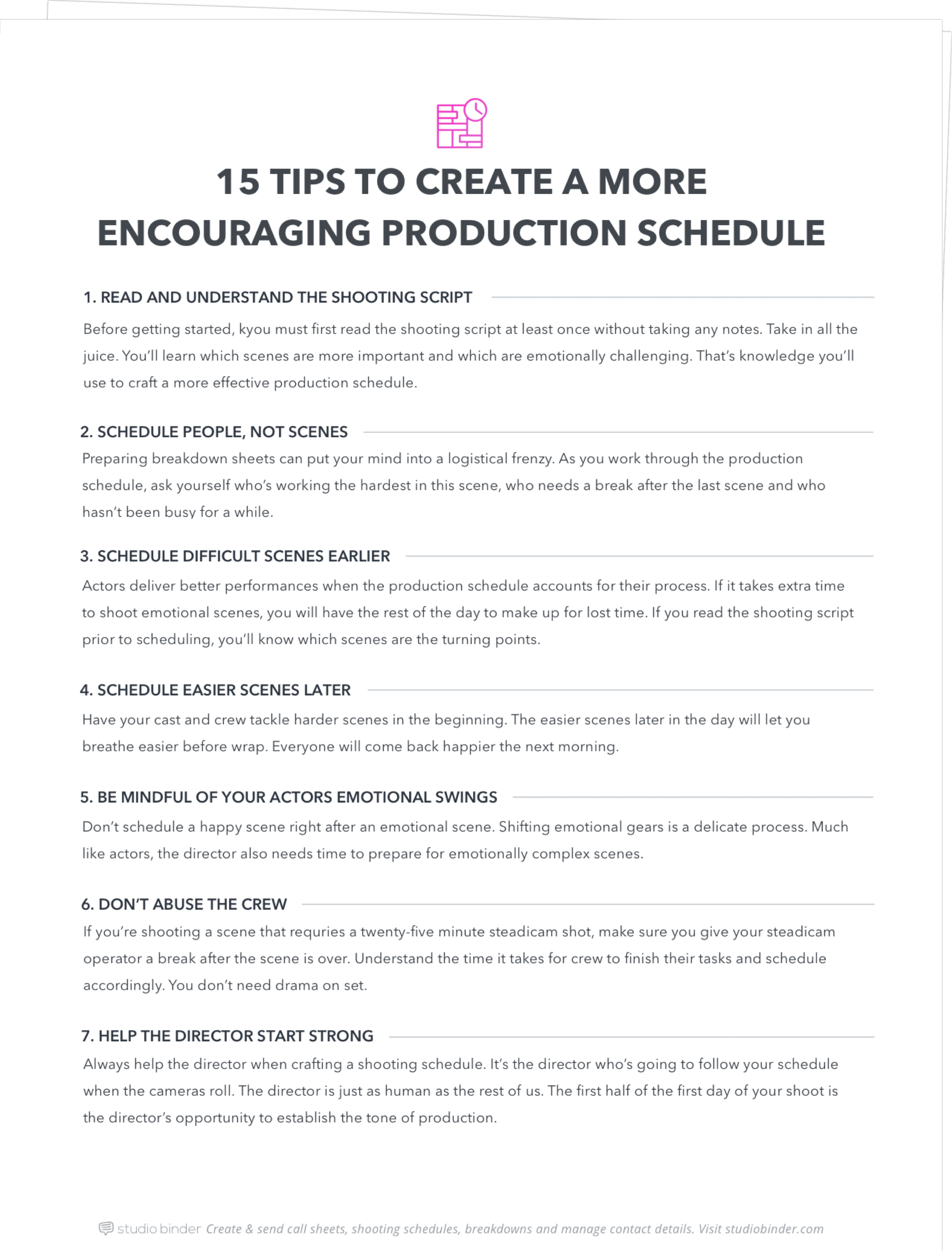 15 Tips To Create A More Encouraging Production Schedule - Exit Intent - Full Page - StudioBinder