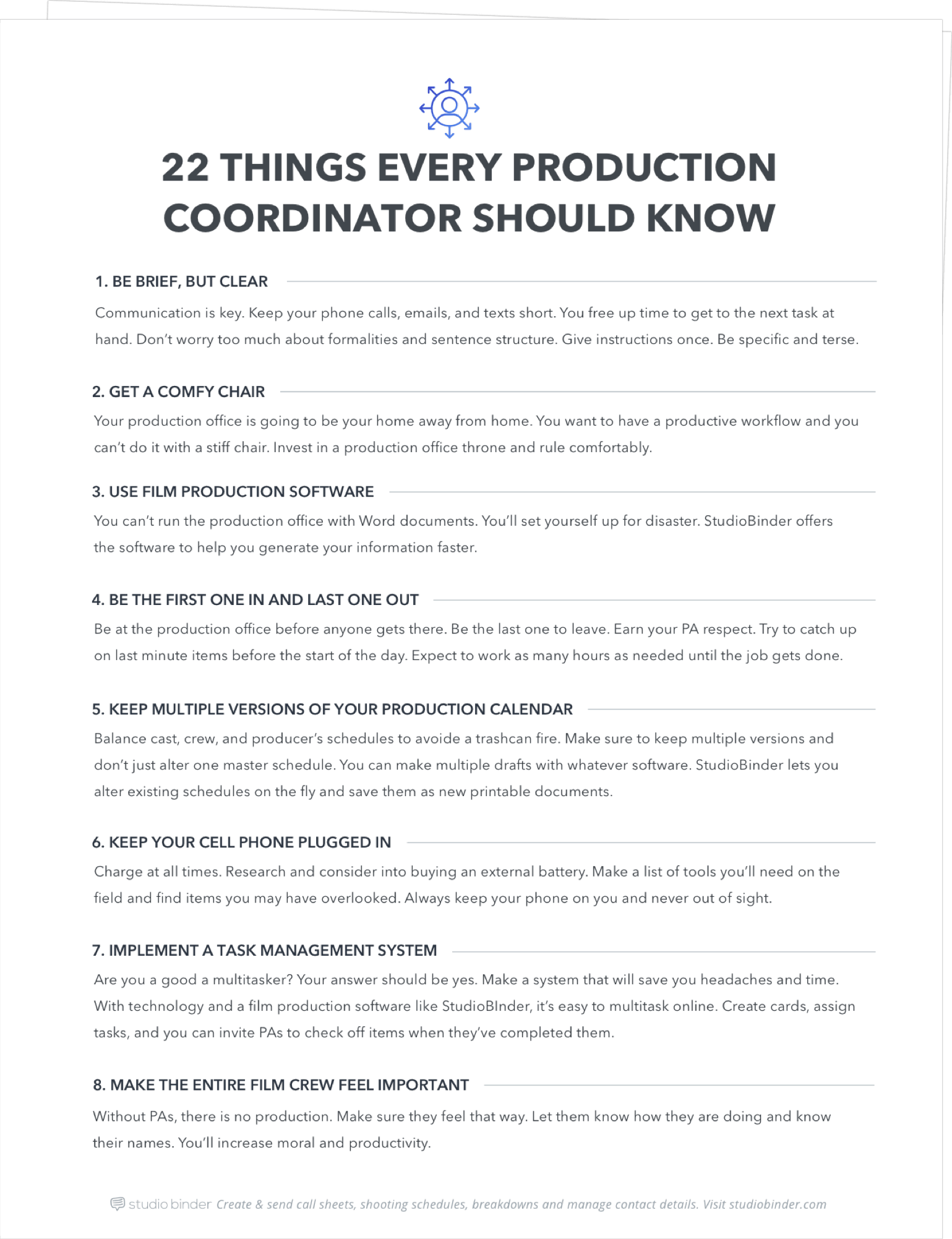 22 Things Every Working Production Coordinator Should Know - Page Stack - StudioBinder
