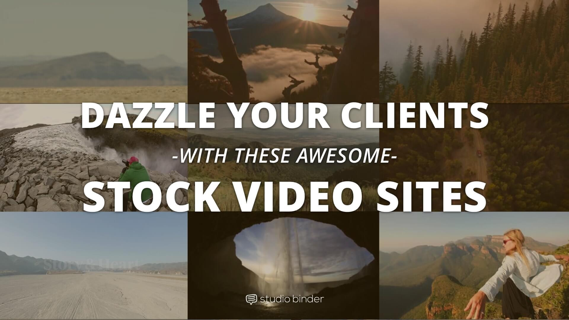 Dazzle Your Clients With These Awesome Stock Video Sites - Featured - StudioBinder