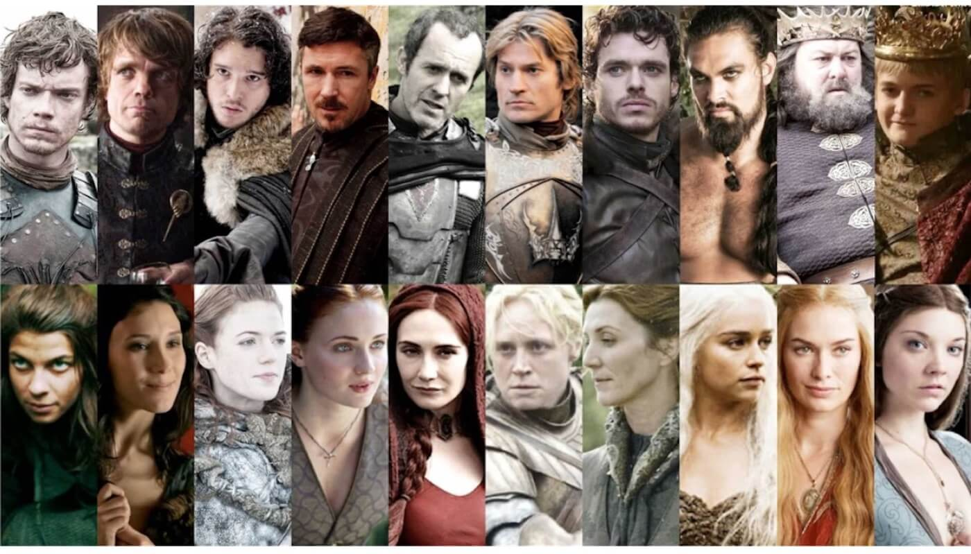 How to Create a TV Show Pitch Bible that Sells - Tiny fraction of the characters with individual storylines in Game of Thrones - StudioBinder