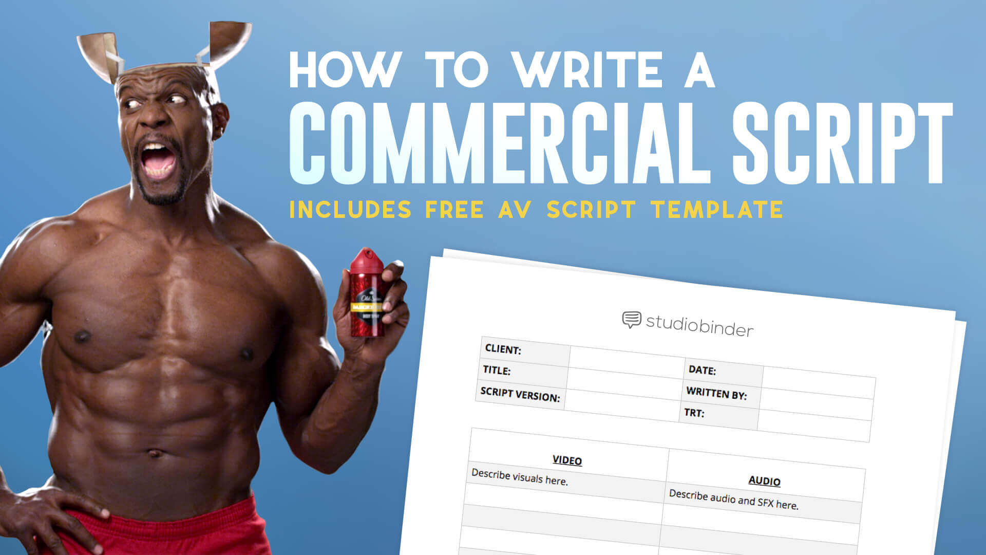 Writing a commercial can be intimidating. But if you use an AV script template, and firm up on your message and audience, you can write one like the pros.