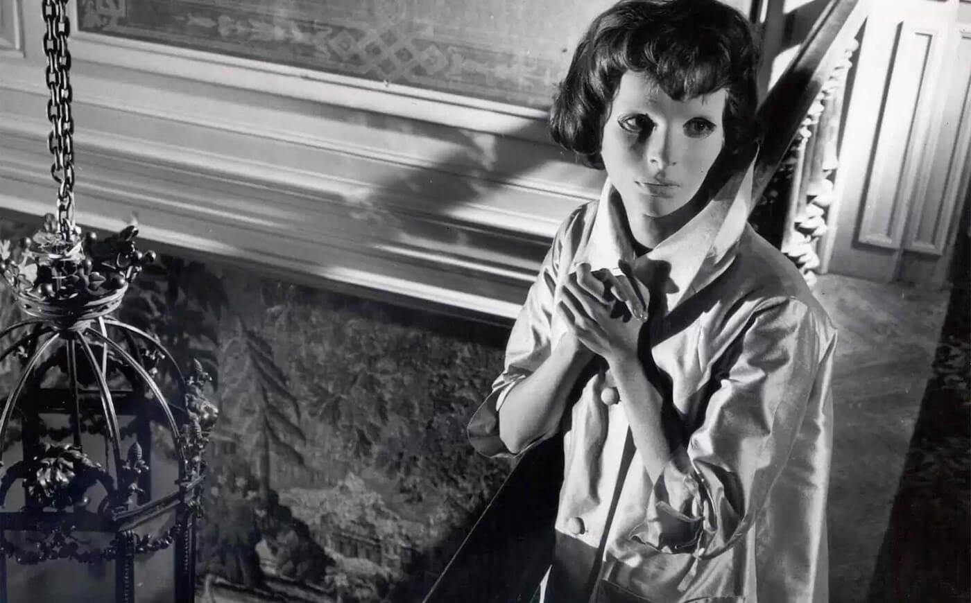 Ultimate Guide To Camera Shots - A High Angle Looks Down On Christiane In Eyes Without A Face