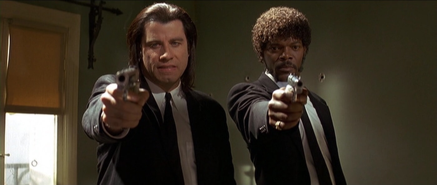 Ultimate Guide To Camera Shots - Pulp Fiction - Jules and Vincent Framed In A Shoulder Level Two Shot