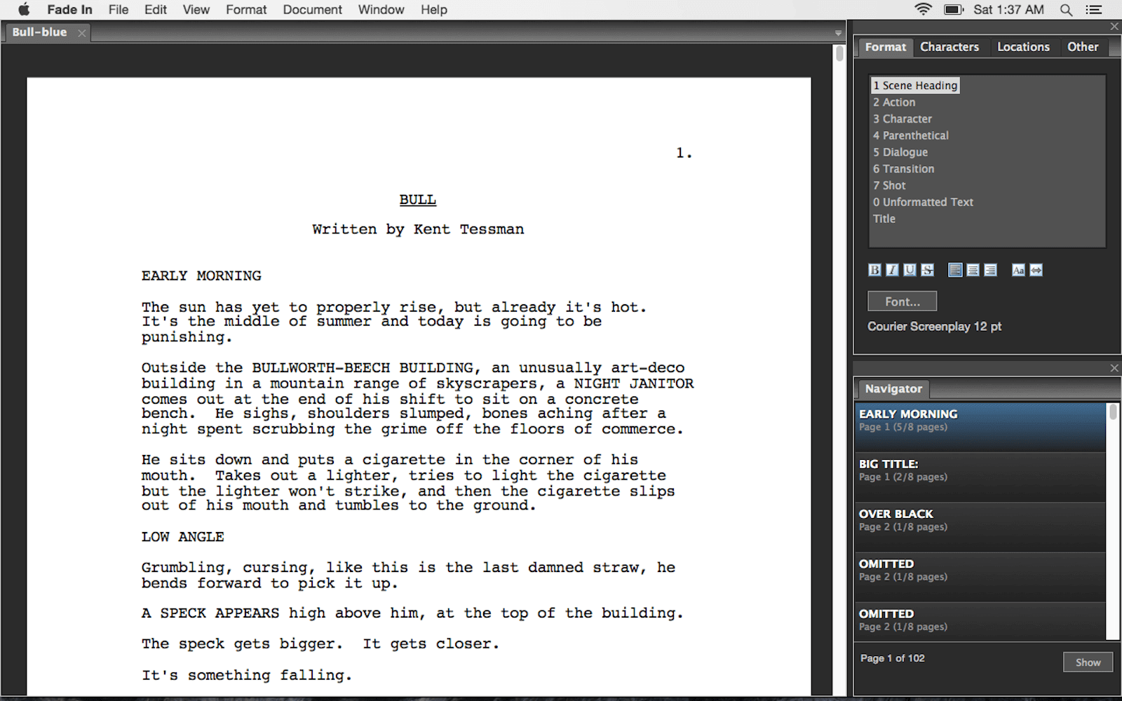 Best Screenwriting Software for Film and TV - Fade In Script Writing Software
