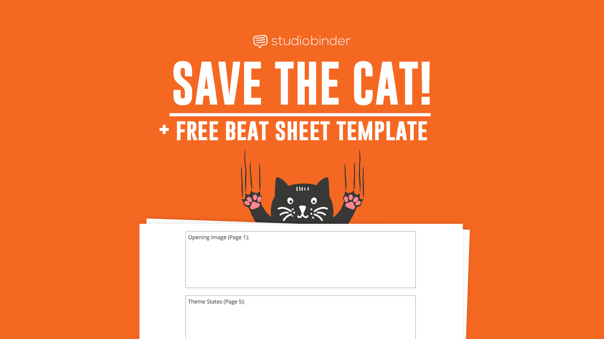 Save the cat beat sheet explained with free template for Save the cat template