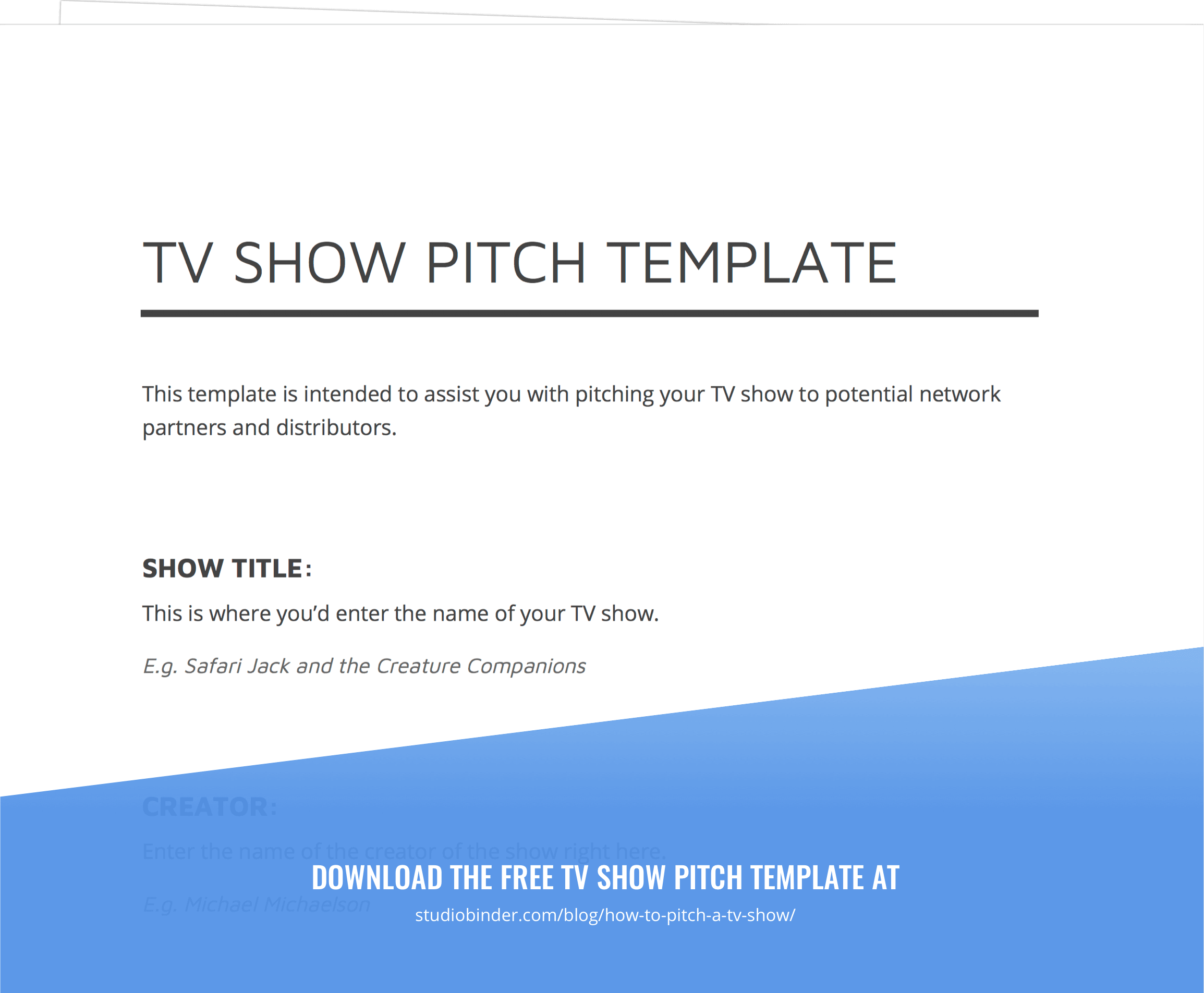 how to pitch a tv show and develop tv show ideas  with