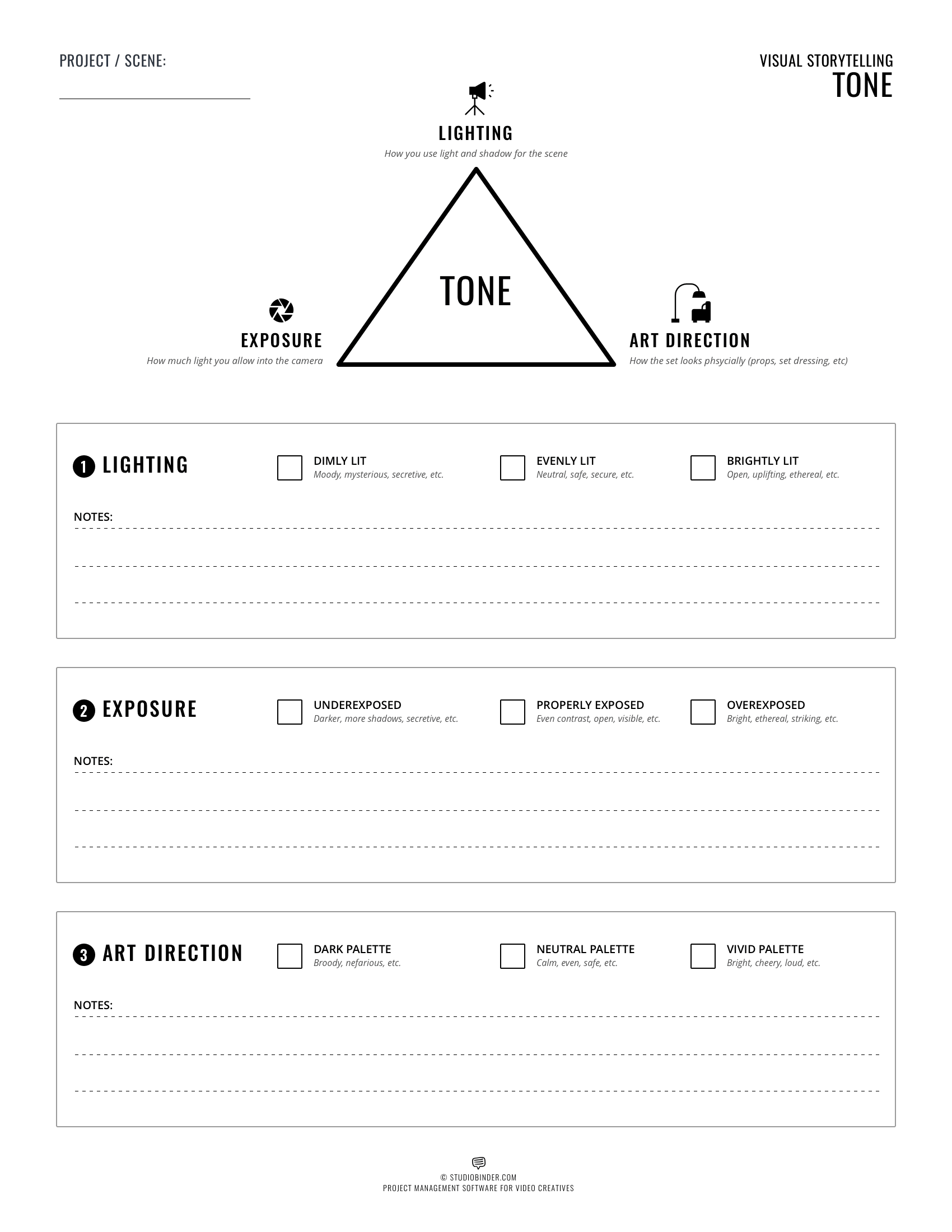How To Create Film Tone Free Worksheet And Examples