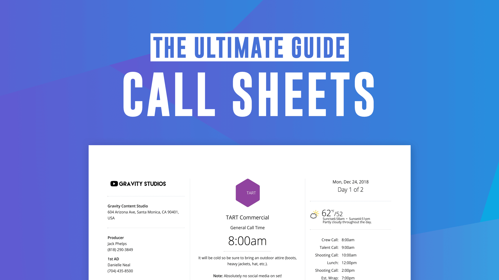 The Ultimate Guide to Call Sheets (with FREE Call Sheet Template)
