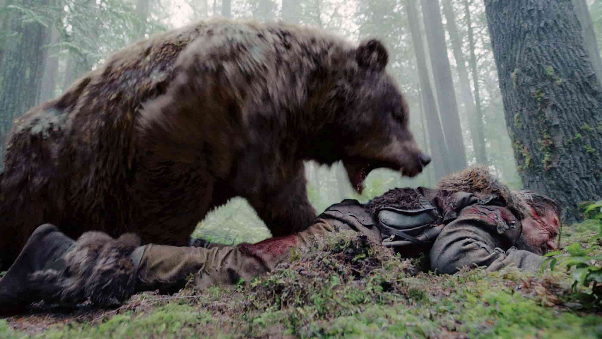 The Revenant movie - shooting Schedule - bear attack