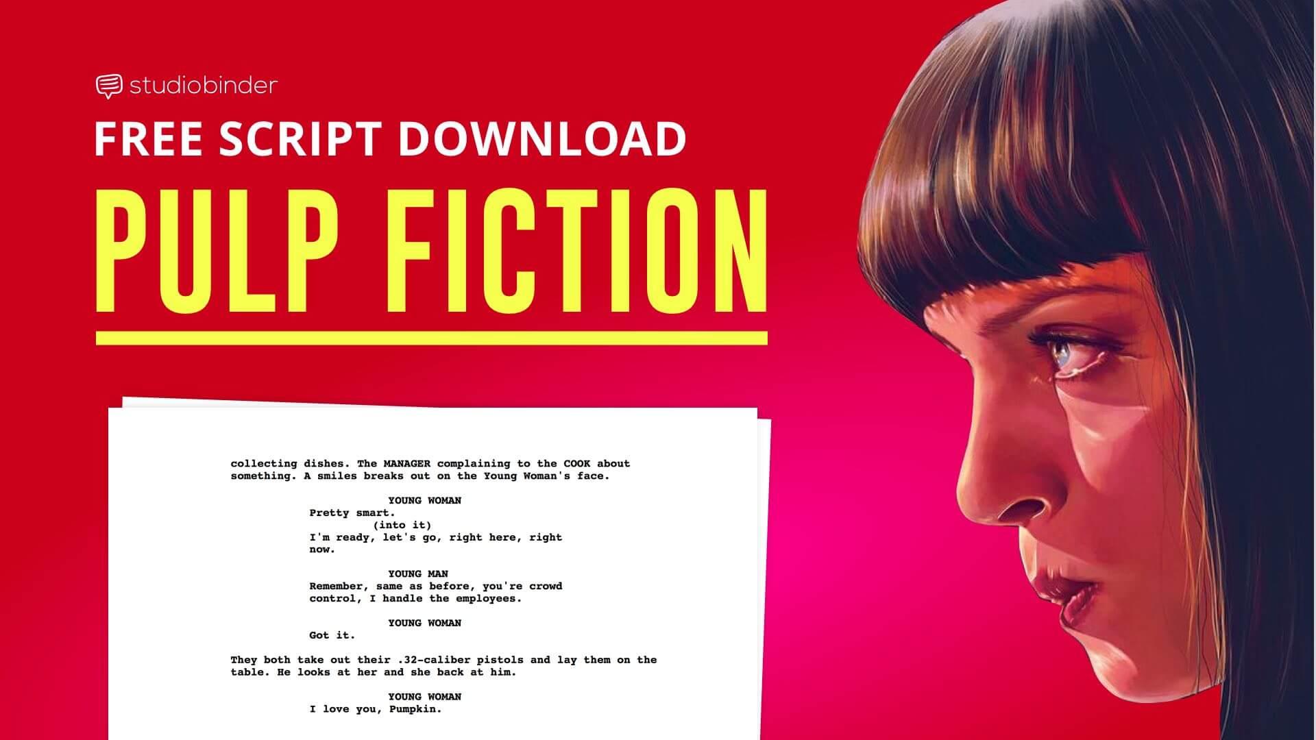 Screenplay Examples: Pulp Fiction Script [FREE Script Download]